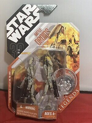 STAR WARS Battle Droids 30th ANNIVERSARY Saga Legends with Exclusive coin Rare