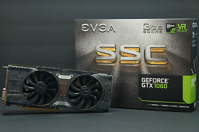 EVGA SSC GAMING Nvidia GeForce GTX 1060 3GB GDDR5 ACX 3.0 Pre-Owned