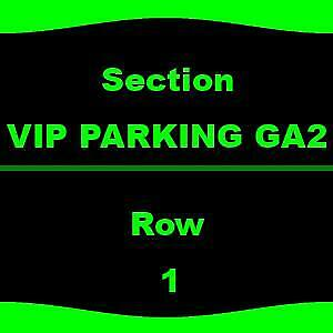1-1 VIP PARKING GA2 Dave Matthews Band - Parking Passes Only 7/9 DTE Energy Musi