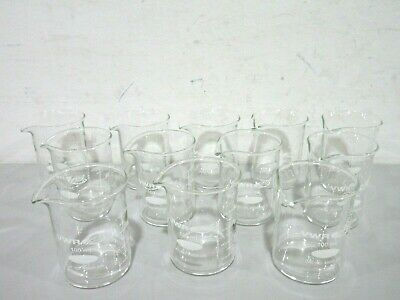 Lot of 12 New VWR 89000-200 100mL  Low Form Glass Beakers