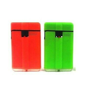 2 Wind Proof EAGLE SLIM TORCH NEON Color Lighter Adjustable Refillable Outdoor