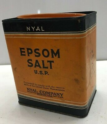 NYAL EPSOM SALT 4 oz tin Vintage Medical Pharmacy