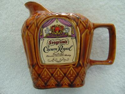 Seagram's Crown Royal Canadian Whiskey Ceramic Drink Pitcher - Excellent!