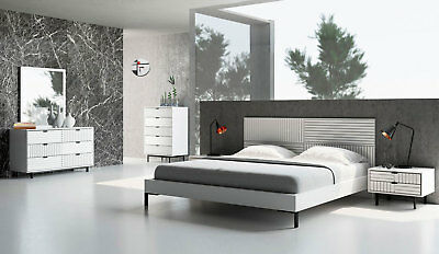 CHRISTIE LOW PROFILE bed contemporary white bedroom suite ...