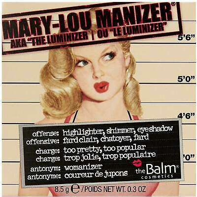 Mary Lou Manizer Highlighter Shimmer and Shadow, The Balm Cosmetics, 0.3 oz
