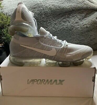 mens nike air vapormax flyknit size 13 Platinum White/ Wolf Grey