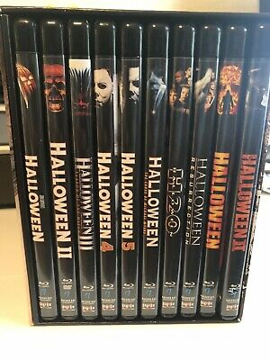 Halloween The Complete Collection 15 Disc Deluxe Edition Blu Ray Box Set OOP