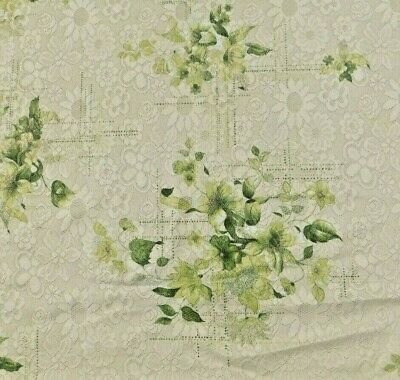 Vintage Lace Nylon Tablecloth 62 By 84 Inches Very Pretty Shades Of Green