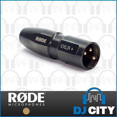 Rode VXLR+ 3.5mm Mini-Jack to 3-Pin XLR Male Adaptor - Genuine RODE Accessory