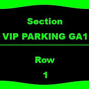 1-5 VIP PARKING GA1 The B-52s - Parking Passes Only 9/14 Meadow Brook Amphitheat
