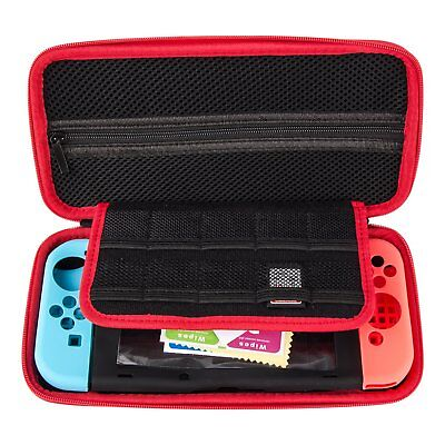 Nintendo Switch Case EVA Hard Carry Bag Protective Cover Screen Protector