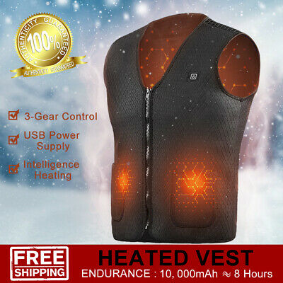 Electric Vest heating Jacket USB Sleeveless Heated Coat Warm Outdoor Unisex