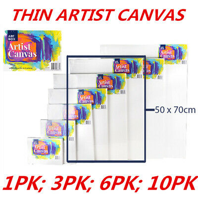 Blank Painting Canvas Artist Stretched White Primer Oil Acrylic Board Frame 5070