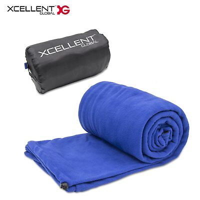 Lightweight Fleece Sleeping Bag, Outdoor Portable Travel Camping Polar Blanket