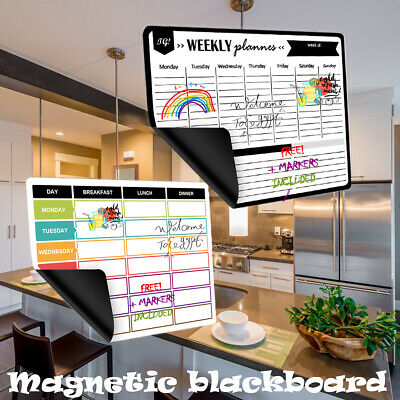 Magnetic Whiteboard Calendar Fridge Magnetic Board Sheet with 5*Markers 1*Eraser