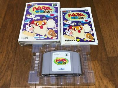 Hamster Monogatari Nintendo 64 n64 W/box manual japan game 73