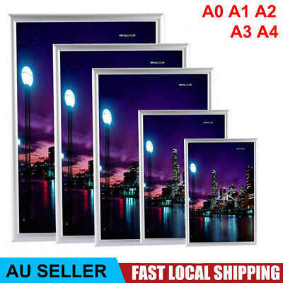 A1 A0 A3 A4 Aluminum Poster Frame Front Snap Load Easy Change Wall Mount