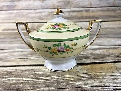 Vintage Meito China Hand Painted Creamer and Covered Sugar Bowl Japan