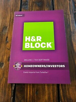 2016 H&R Block Deluxe Tax Software Homeowners/Investors Genuine NEW SEALED