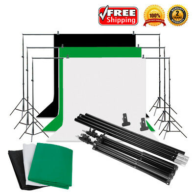 9x6ft Professional Photography Studio Background Screen Backdrop With Stand Kits