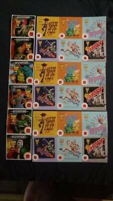 Toy Story 4 McDonalds complete set of 12 stickers and 2 extra sheets for free!