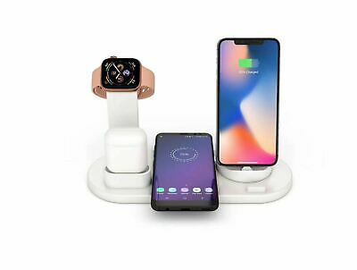 3in1 Charging Dock Stand + Wireless Charger For Lightning USB, Type C, Micro USB