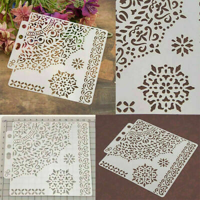 Plastic Layering Stencils For Walls Painting Scrapbooking Template Decor Craft