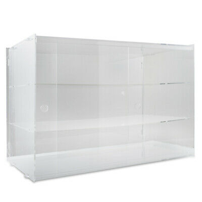 large Acrylic Cake Display Cabinet 56.5x32x40CM Showcase Bakery Collectibles