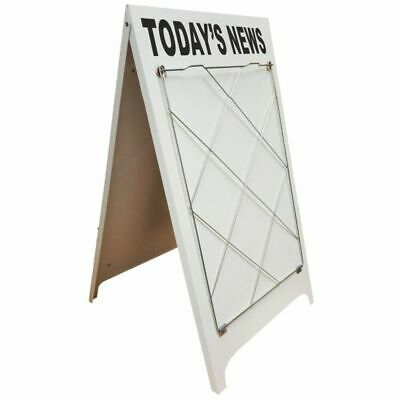 Personalised Billwire Newspaper A-board. Pavement Sign. A Frame. Double Sided.