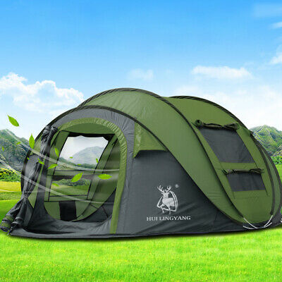 Waterproof 3-4 Person Man Family Tent Instant Pop Up Tent Outdoor Camping Hiking