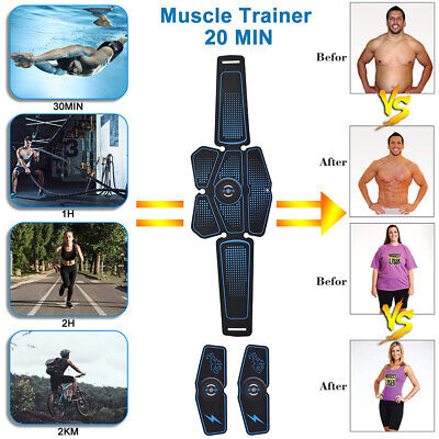 USB Rechargable Fitness Abdominal Muscle Hip Lift Trainer ABS Stimulator Toner
