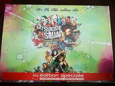 Coffret Blu Ray : Suicide Squad Extented Cut - Edition FNAC - Neuf Sous Blister