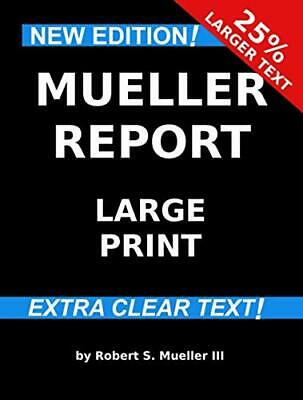 Mueller Report: Large Print by Robert S. M (Paperback – Large Print,May 26,2019)