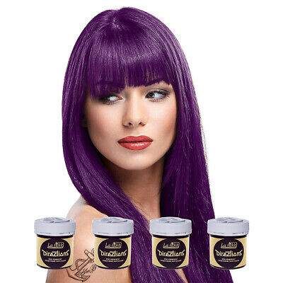 La Riche Directions Plum Purple Semi-Permanent Colour Hair Dye Kit 4 Pack 88ml