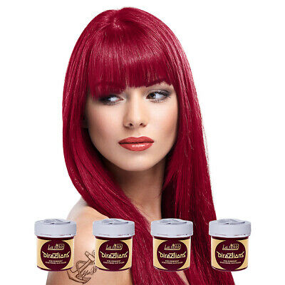 La Riche Directions Rose Red Semi-Permanent Colour Hair Dye Kit 4 Pack 88ml