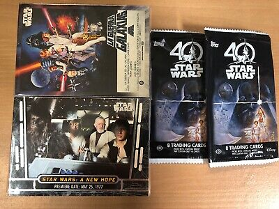 2017 Star Wars 40th Anniversary Base Set Complete 200 Cards, Empty Wrappers