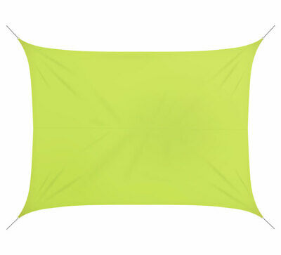 Voile d'ombrage 4,5x3,5m rectangulaire polyester vert anis 180g/m2 Comme Neuf