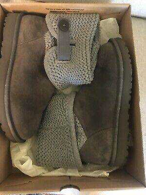 ae92c692713 UGG WOMEN'S SHAINA Grey Knit boots NEW 1012534 New With Box ...