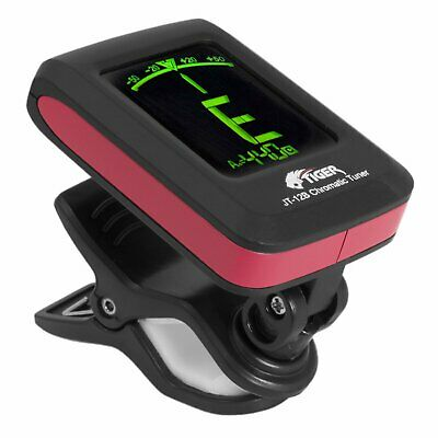 158085 Tiger Chromatic Guitar Tuner - Easy to Use Highly Accurate Clip-on Tuner