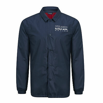 New! 2019 Aston Martin Red Bull Racing F1 Mens Coach Style Jacket Shirt in Navy