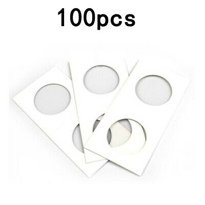 100* Cardboard Coin Protection Storage Display Holders Paper Clip 40MM Useful