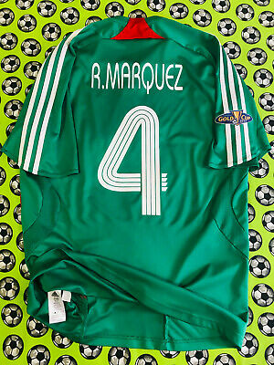 2b185821f5c Adidas Mexico Home Soccer Football Jersey Gold Cup 2007 Rafael Marquez
