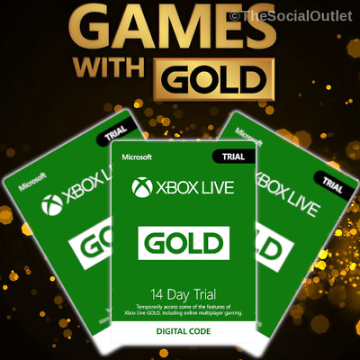 Xbox Live Gold 14 Day 2 Weeks Xbox Live Gold Trial Code Instant Delivery