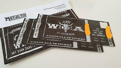 2 Tickets, Wacken Festival 2019, 3 Days All In -SOLD OUT-