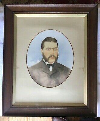 Watercolour Portrait of Late 19th / Early 20th Century Gentleman