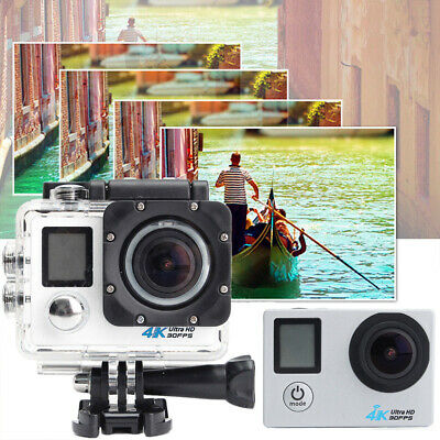 PRO Cam WiFi 4K 16MP 2.0in LCD Dual Screen Sport Action Camera Remote-Control