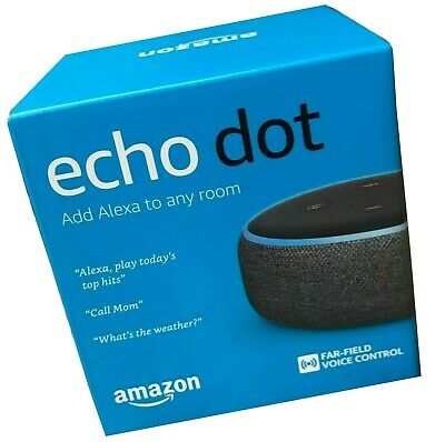 Echo Dot 3rd Generation Smart Speaker w/ Alexa - Charcoal (NEW IN RETAIL BOX)