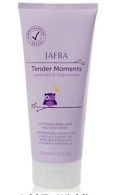 Jafra Tender Moments Lavender & Chamomile Softening Baby Hair & Body Wash 6.7 OZ