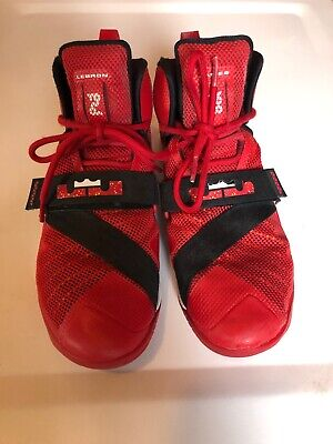 new concept bcf3f 92e92 NIKE LEBRON SOLDIER 9 IX Basketball Mens Shoes 749417-606 Red Sprite Size  7.5