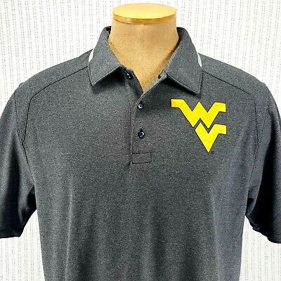 3daae804 Nike Dri Fit University West Virginia Mountaineers Golf Polo Shirt Mens  Large L